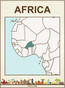 Africa Bingo, Flash Card Front / 2